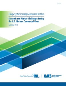 Economic and Market Challenges Facing the U.S. Nuclear Commercial Fleet (cover)